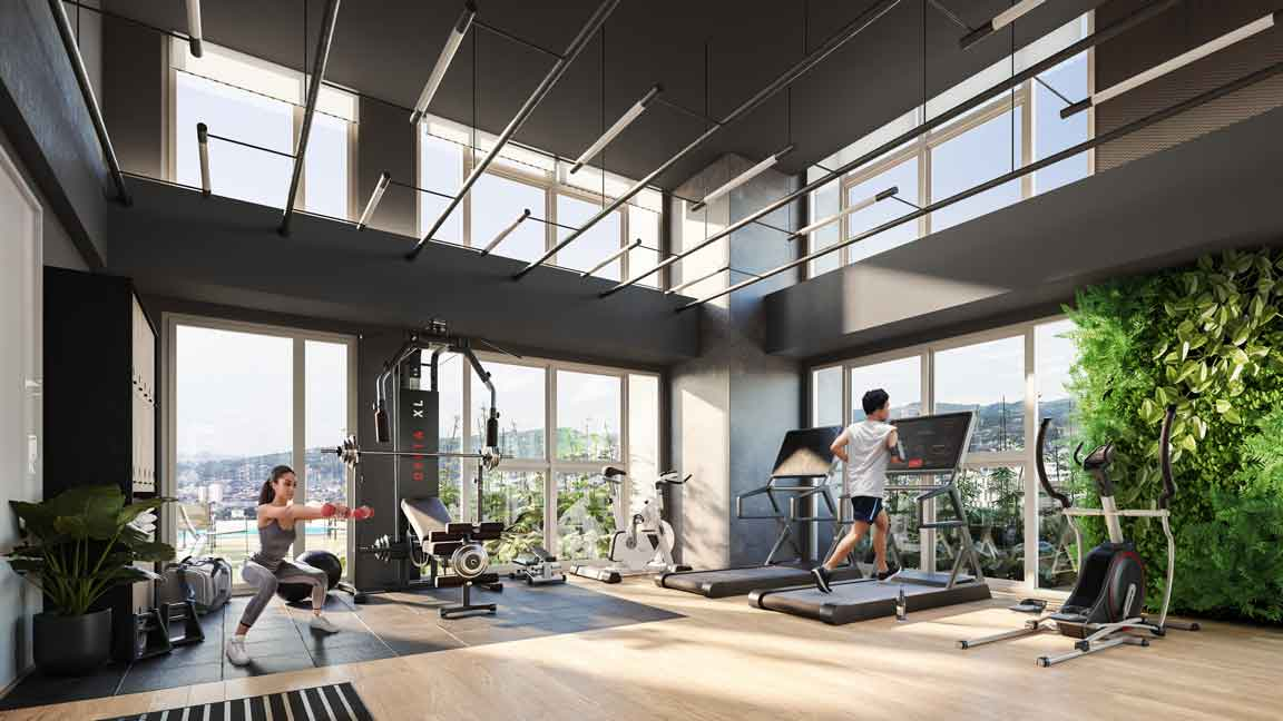 Artist's Perspective of Fitness Center